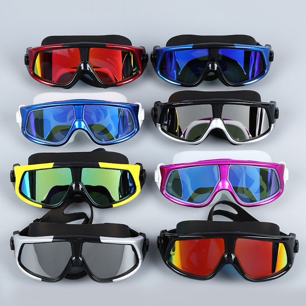 Fashion Anti-fogging UV Swim Goggles Glasses with Big Frame