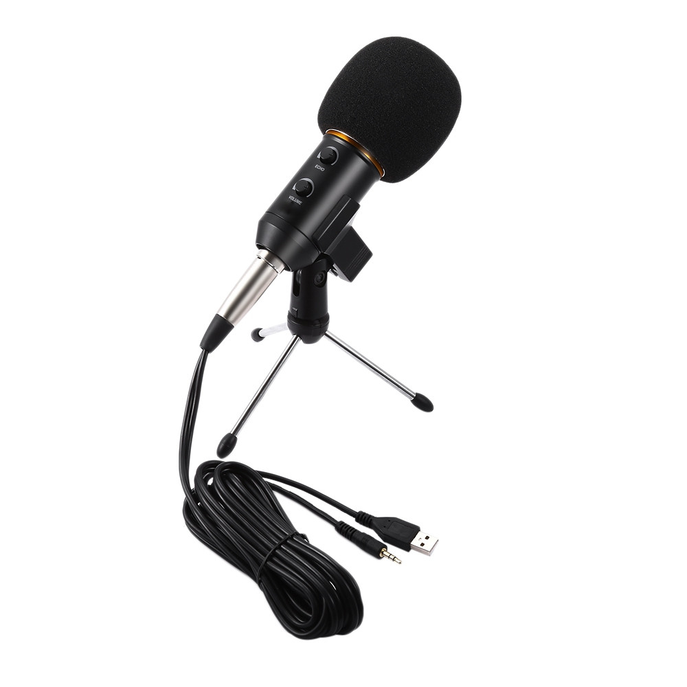 BM - 300FX Audio Sound Recording Condenser Microphone with Foldable Tripod