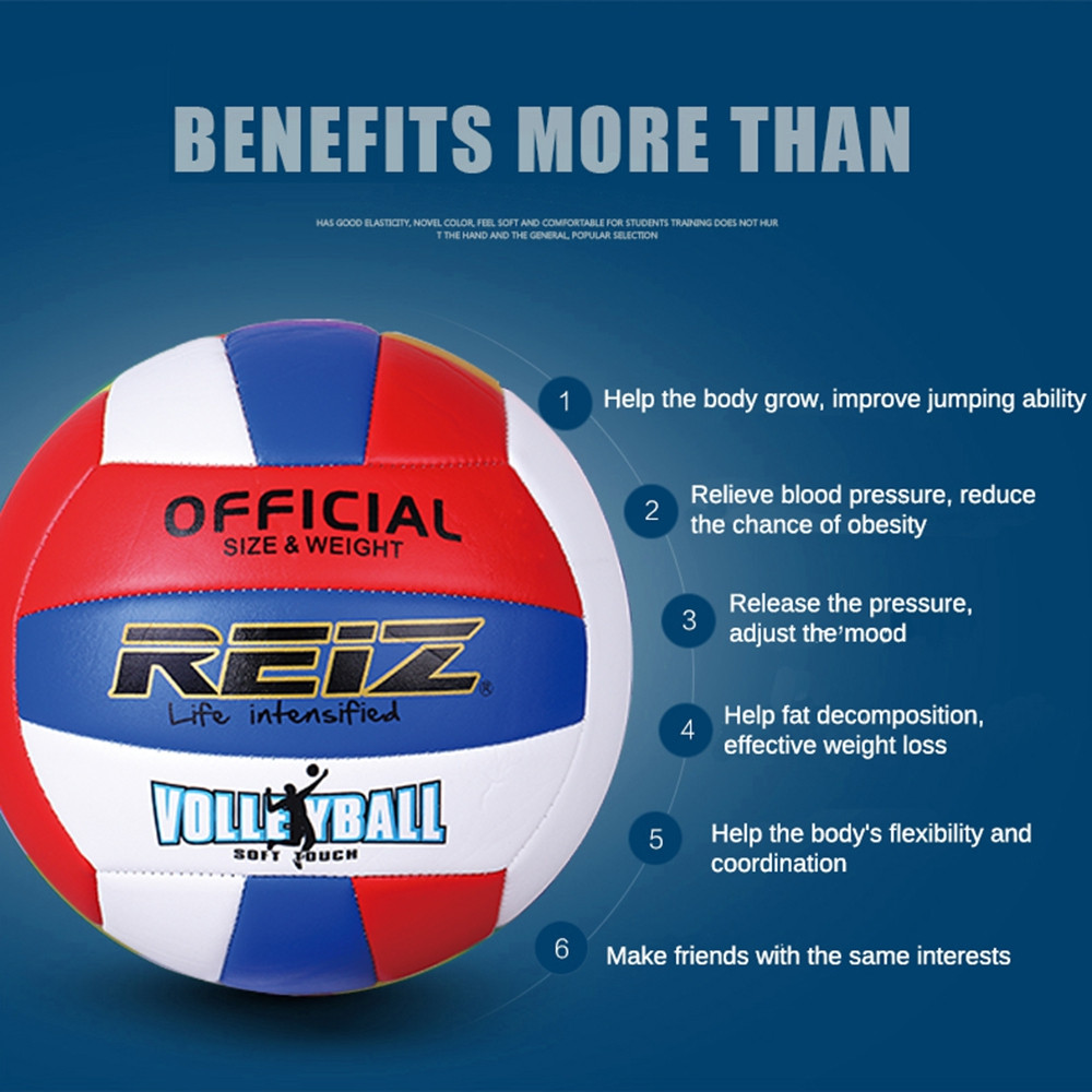 Official Size 5 Pu Volleyball High Quality Match Indooroutdoor Training Ball with Free Gift Net Needle V611