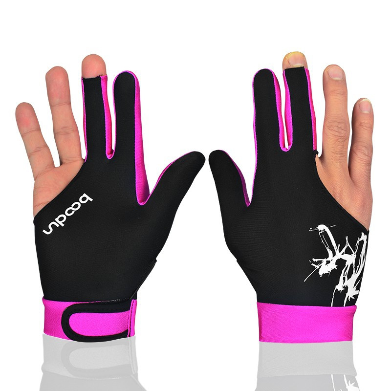 1 PCS Shooters 3 Fingers 5colors Billiard Snooker Gloves High Quality Accessories