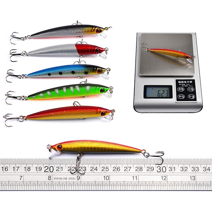 Proberos DWS560 56-piece Set ABS Plastic Classic Fishing Lures Hard Bait