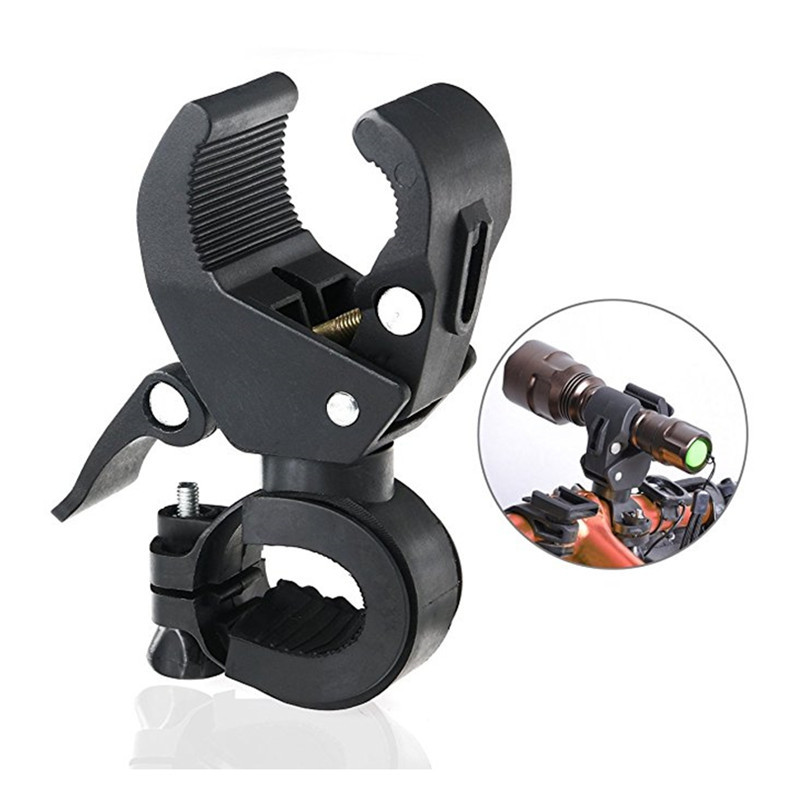 360-Degree Rotating Bicycle Headlight Bracket Clip