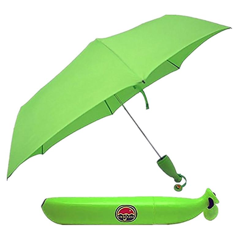 UV Protection Cartoon Banana Shape Folding Umbrella