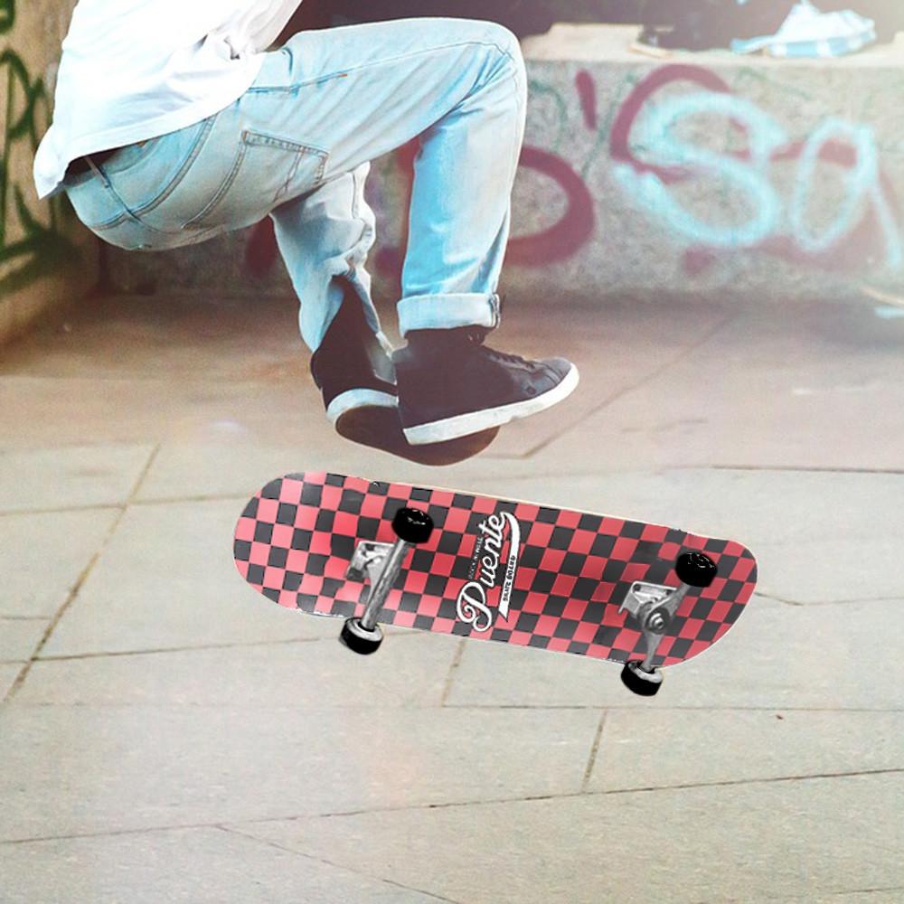 PUENTE Pet - 602 Four-wheel Double Kick Deck Skateboard