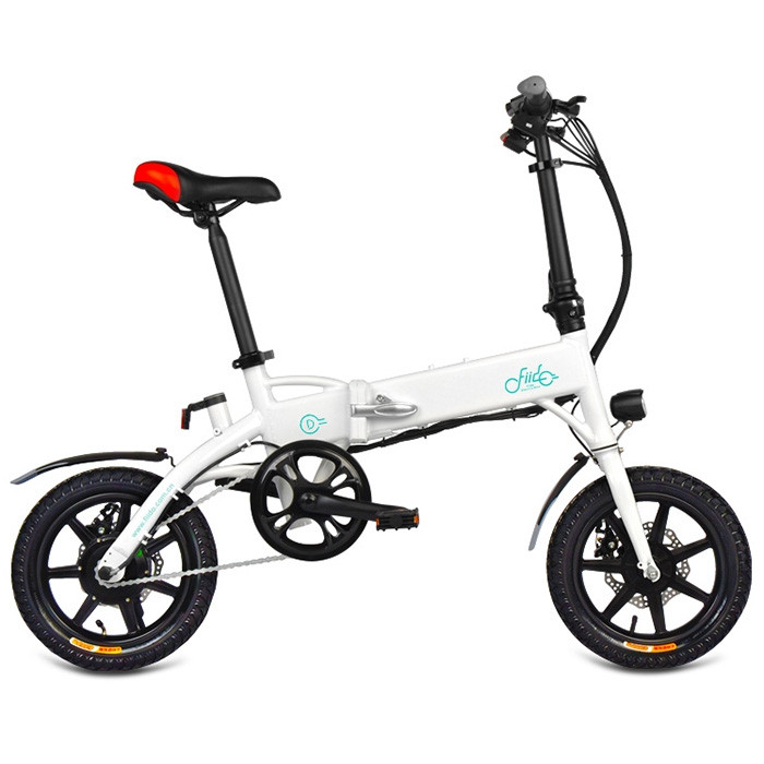 FIIDO D1 Mini Aluminum Alloy Smart Folding Electric Bike Moped Bicycle EU Plug