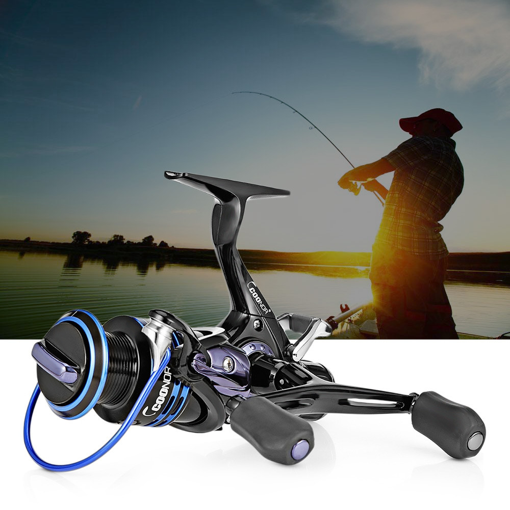COONOR J12 9 + 1BB Metal Spool Fishing Reel with Double T-shape Handles