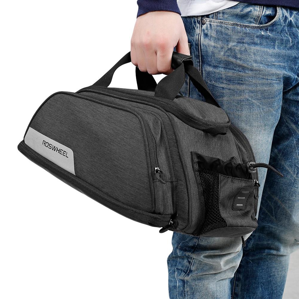 ROSWHEEL 141472 Multifunctional Bicycle Pannier Bag Trunk Pack