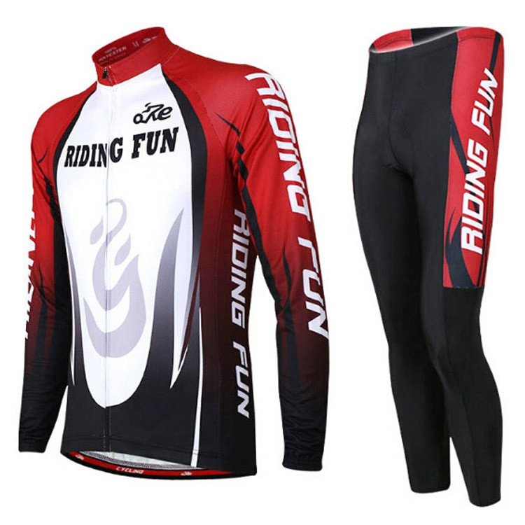 RIDING FUN Men Breathable Long Sleeve Riding Clothes Suit