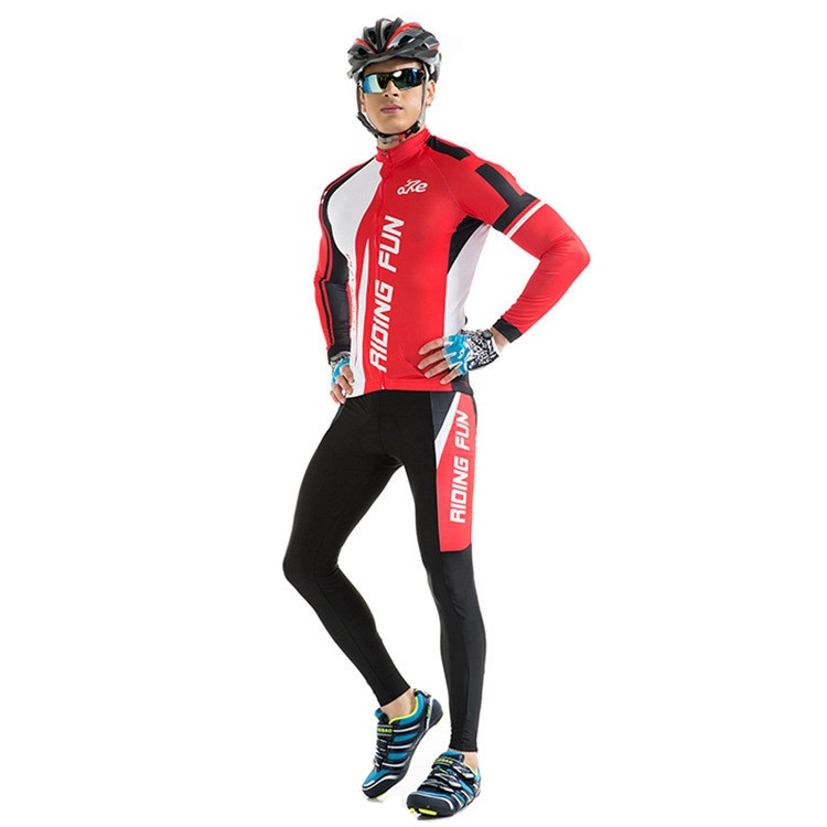 RIDING FUN Men Anti-UV Long-sleeved Riding Clothes Suit
