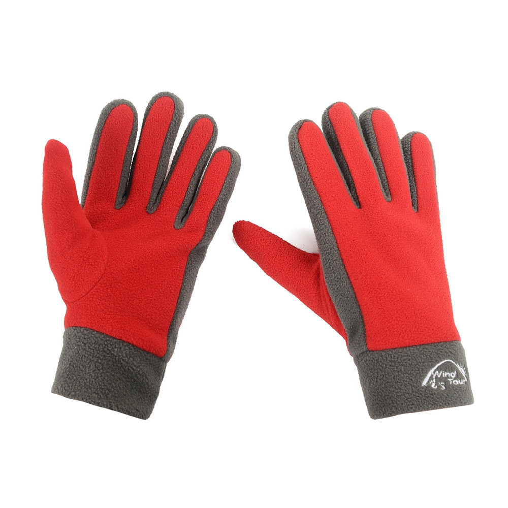 Outdoor Windproof Warm Gloves Climbing Fleece Fabric