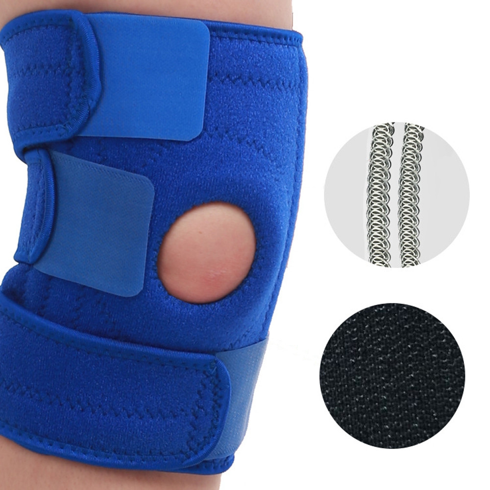 Elastic Knee Pads Adjustable Four Spring Safety Guard Strap for Outdoor Sports
