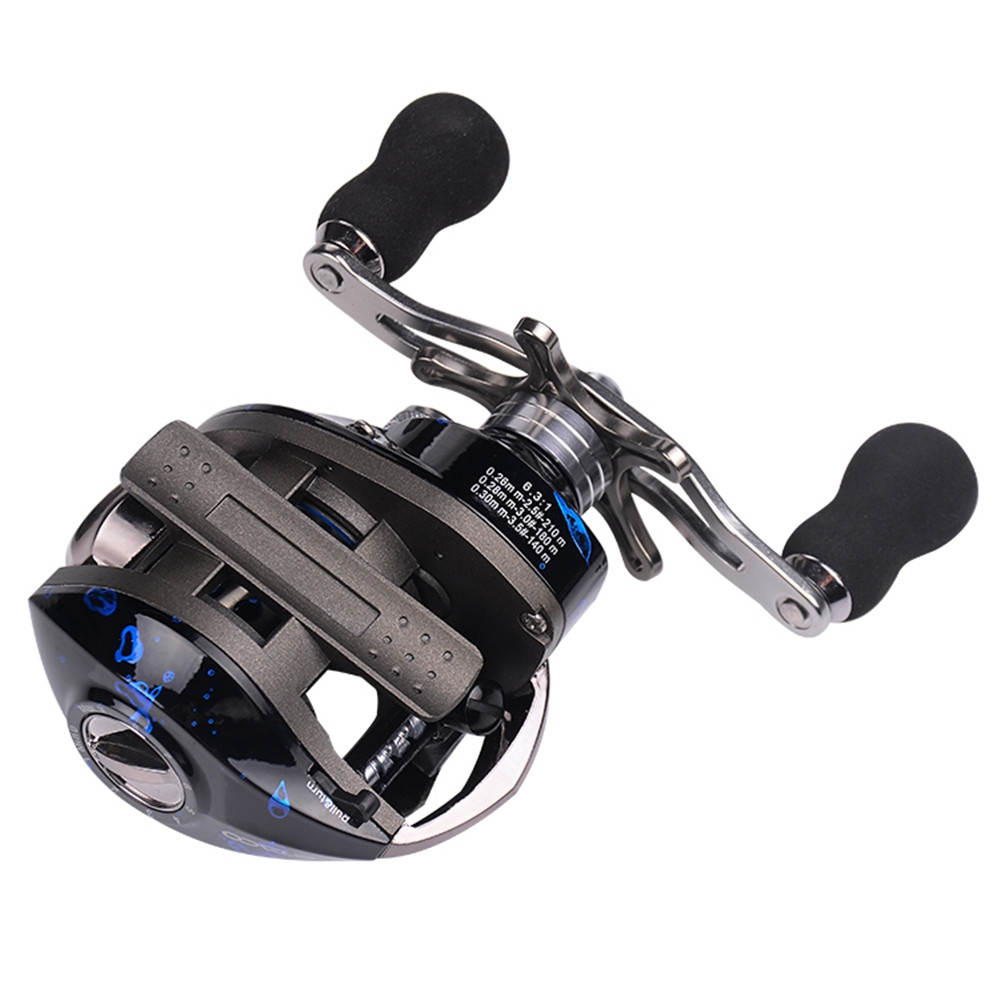 Baitcasting Reel Magnetic Braking System Baitcaster with Stainless Ball Bearings