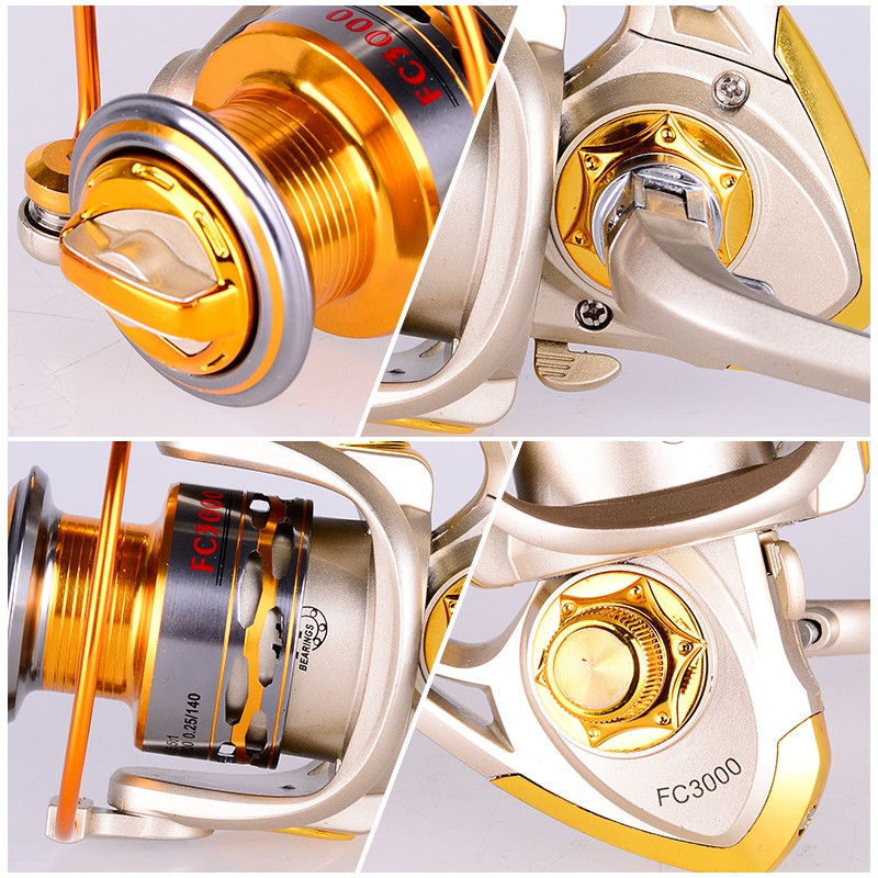 FC1000-7000 11BB Metal Spinning Fishing Reel Fly Wheel For Fresh/Salt Water