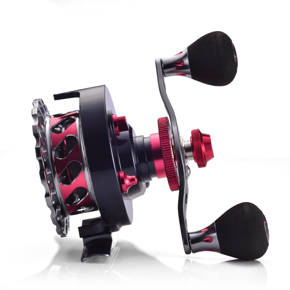 B65 Red Color Gear Ratio 2.6:1 Raft Fishing Reel