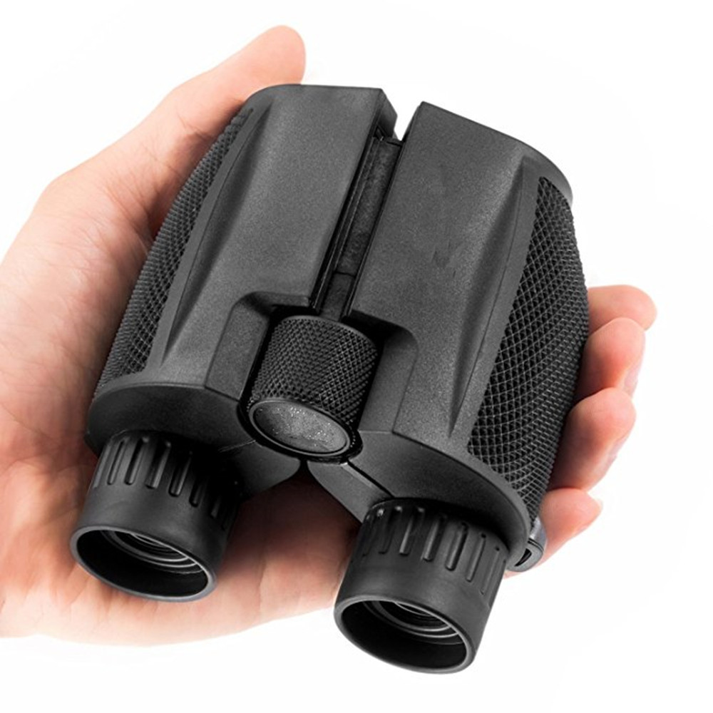 10x25 Folding High Powered Binoculars With Weak Light Night Vision Clear