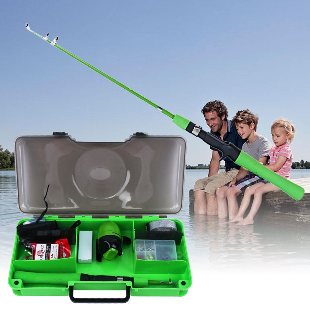 Children Lightweight Fishing Rod with Reel Combo Kit