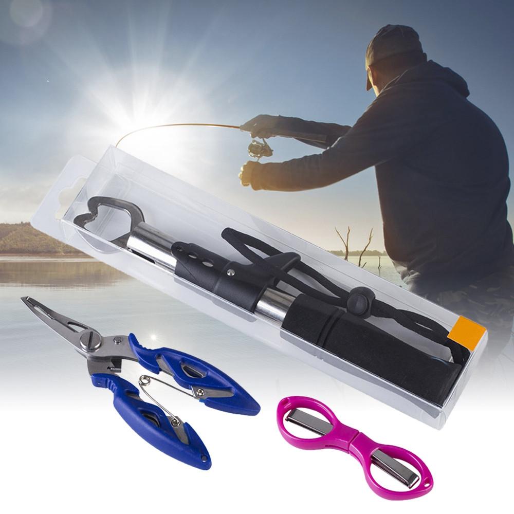 Foldable Scissors Fishing Pliers Fish Grabber Fishing Tool Set