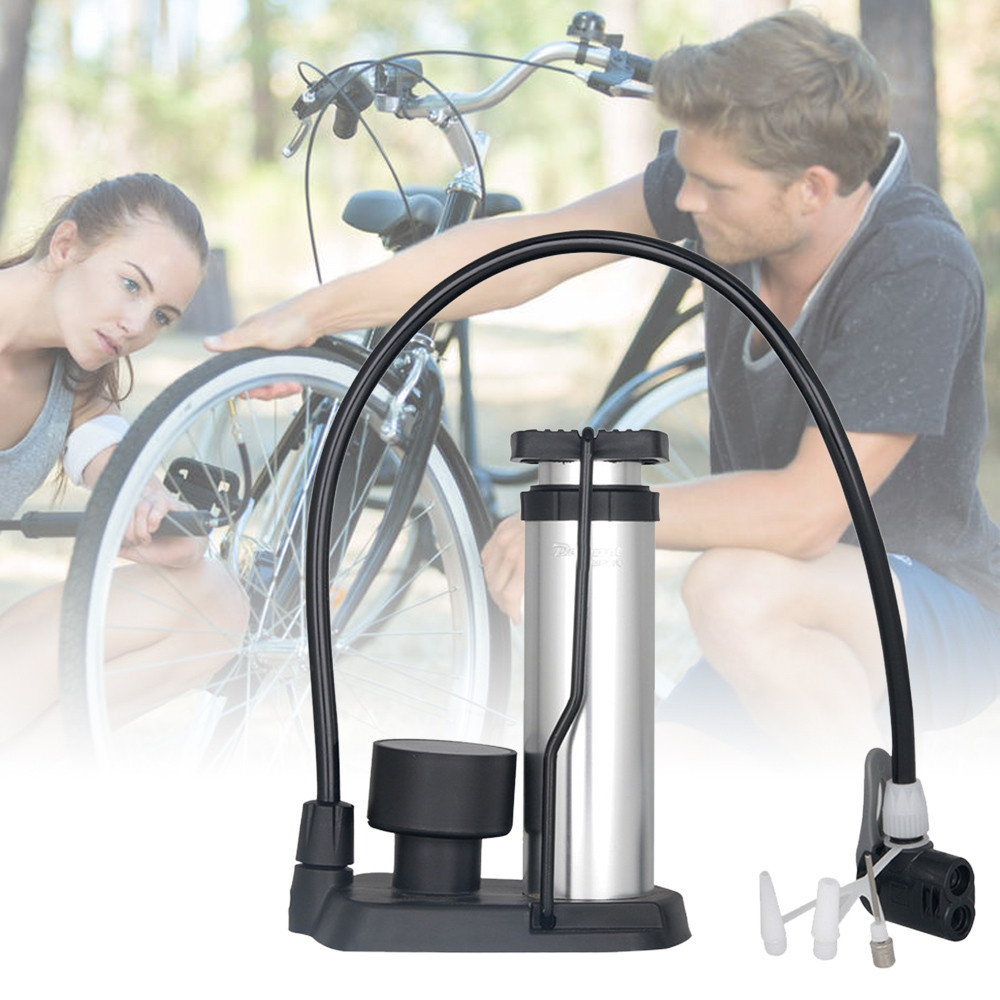 Deemount Foot Activated Floor Bike Pump with Pressure Gauge