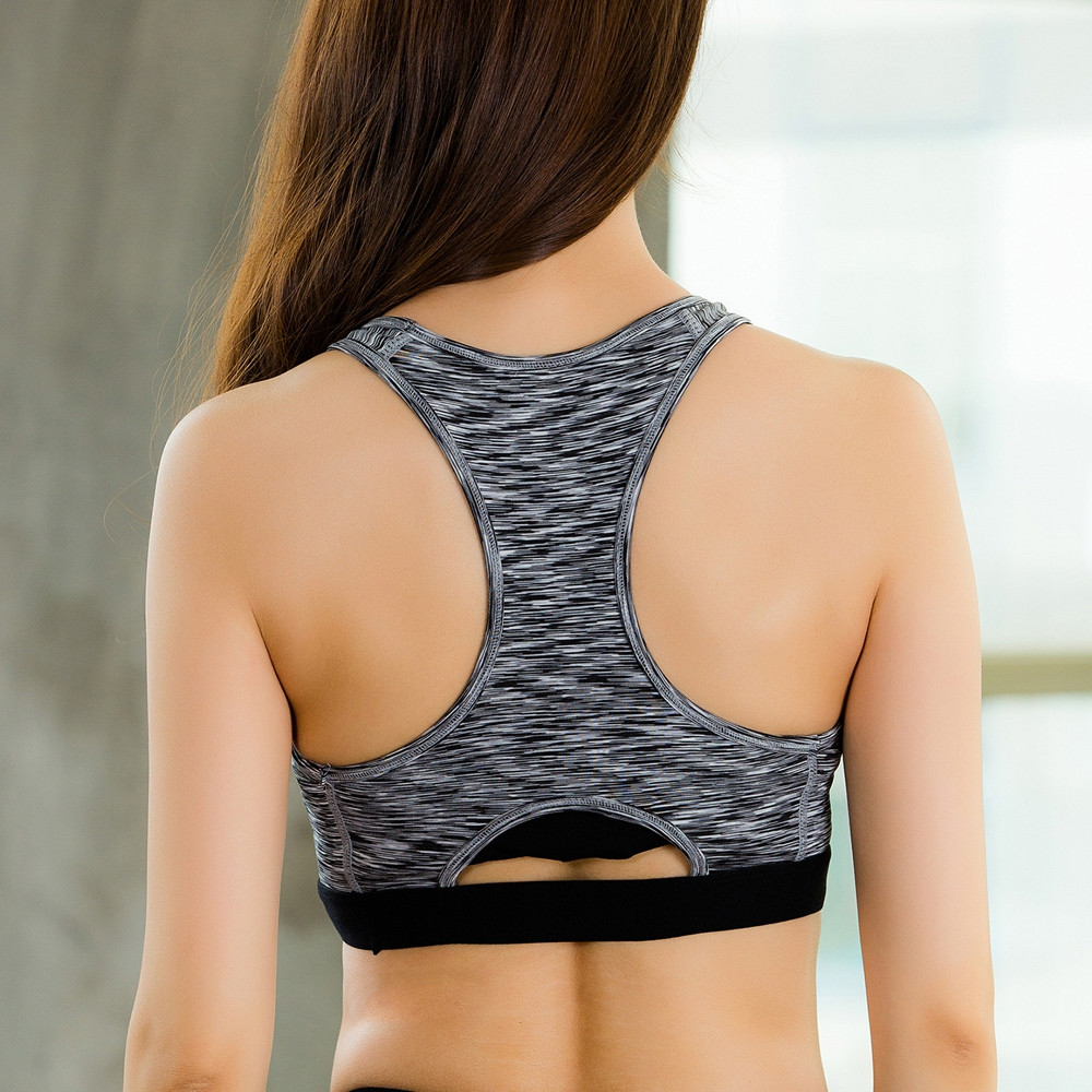 Fitness Running Camouflage Elastic Yoga Bra