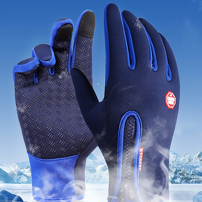 Pair of Winter Unisex Full-finger Touch Screen Waterproof Warm-keeping Gloves for Cycling Skiing