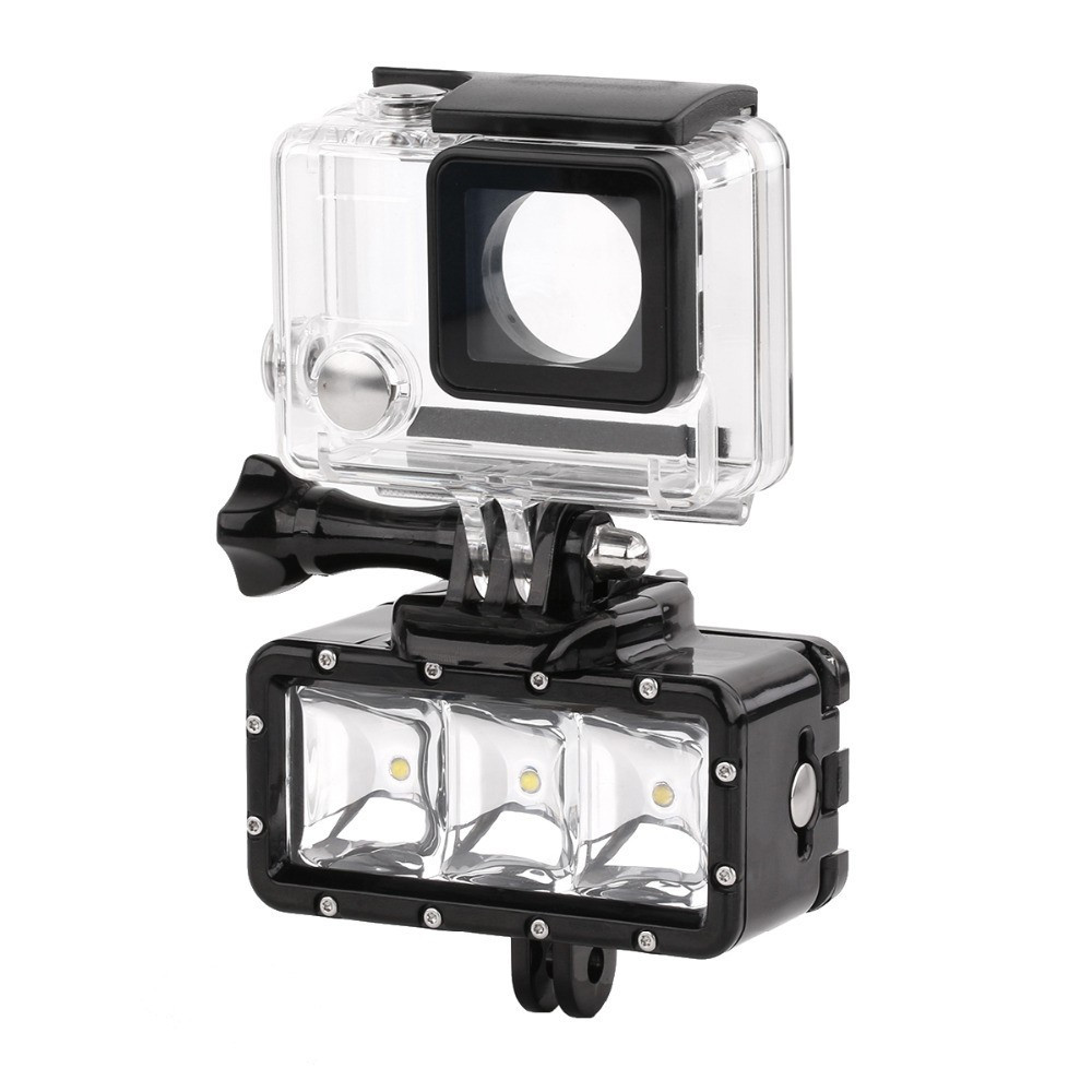 30M Diving LED Video Light + Battery + Buckle GITUP GoPro Hero / SJ4000 / Xiaomi