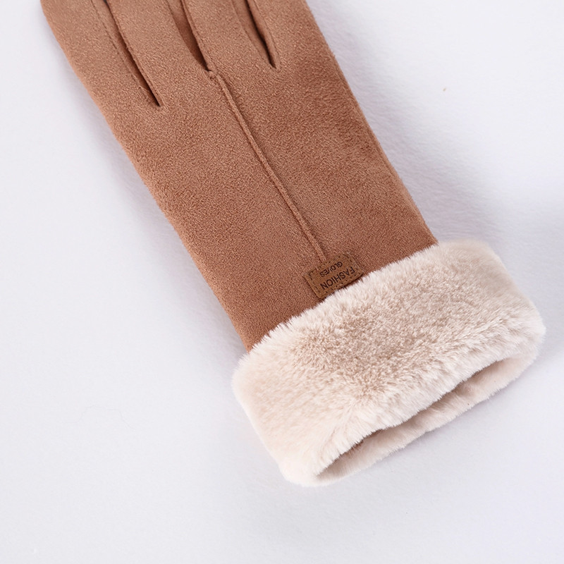 Winter Weather Protective Double Layer Outdoor Warm Gloves with Fleece