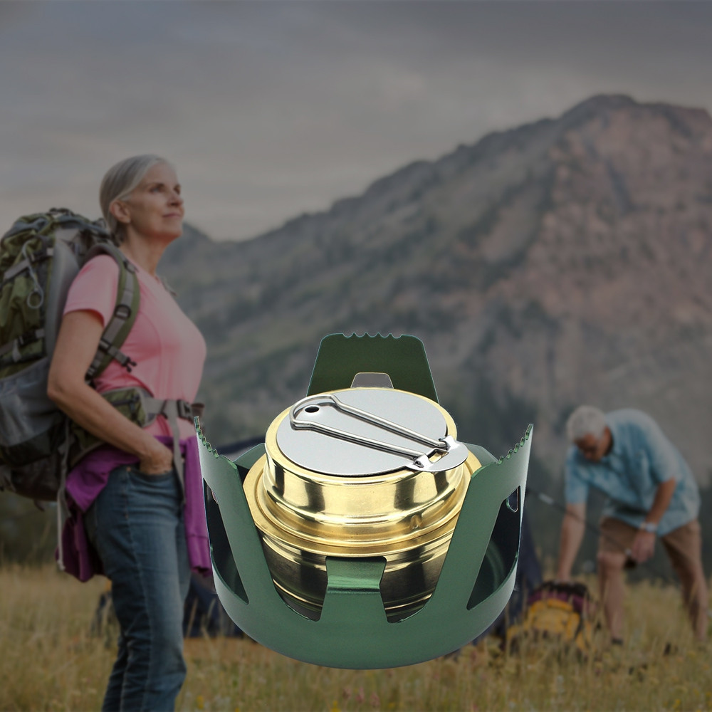 Outdoor Portable Alcohol Stove Burner for Backpacking Hiking Camping Survival