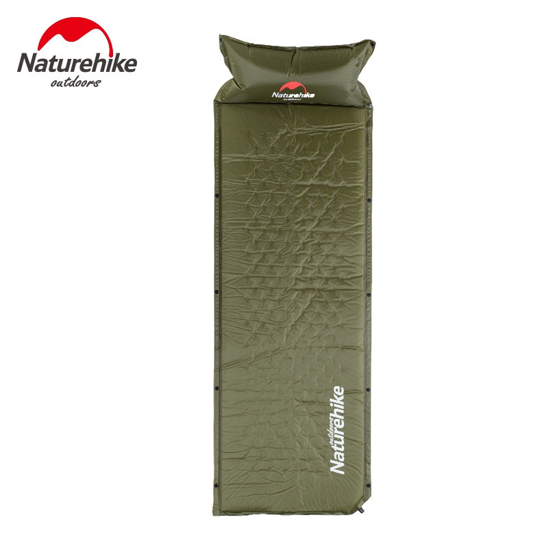 NatureHike Sleeping Mattress Self-Inflating Pad Portable Bed with Pillow Camping