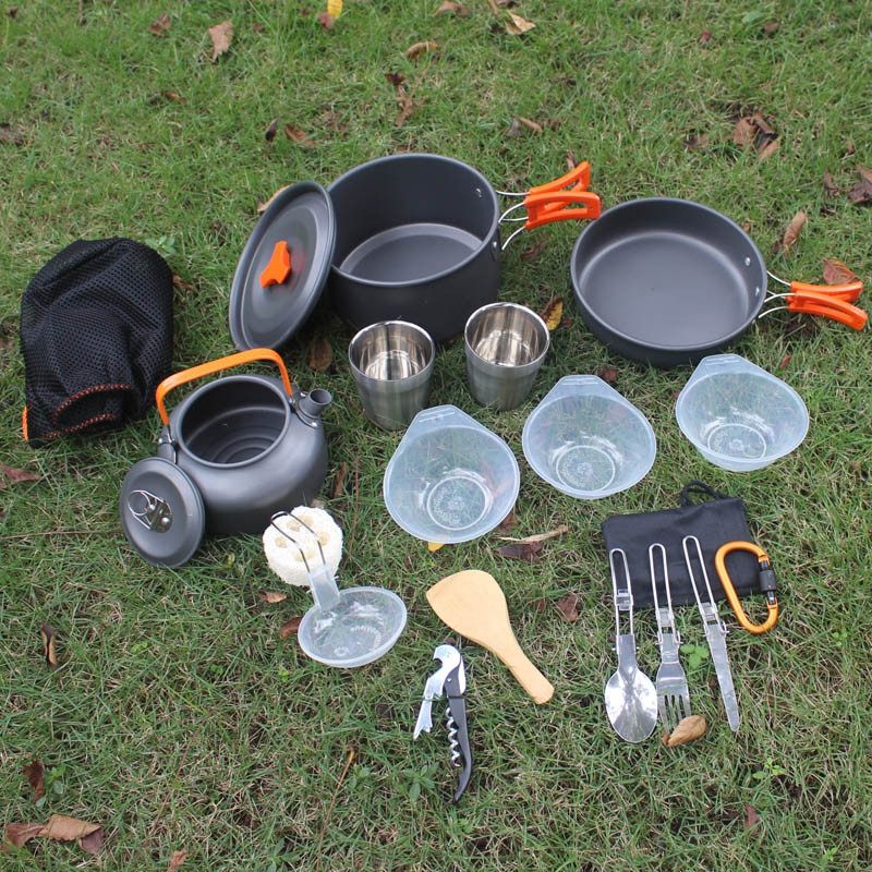Aotu AT6384 - A Camping Cookware Portable Tableware Set