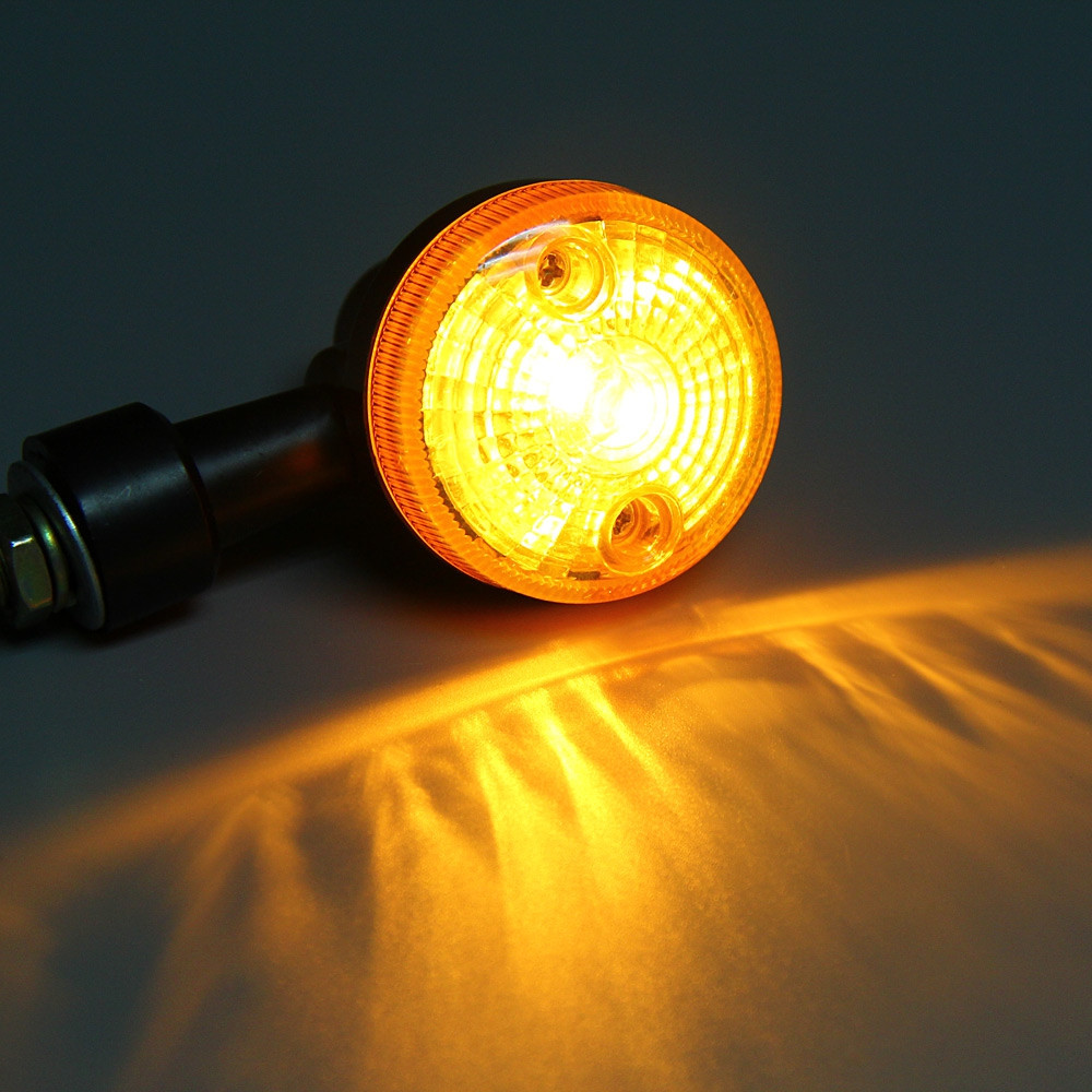 12V 2pcs Turn Signal Indicator Light for Motorcycle - Amber Light