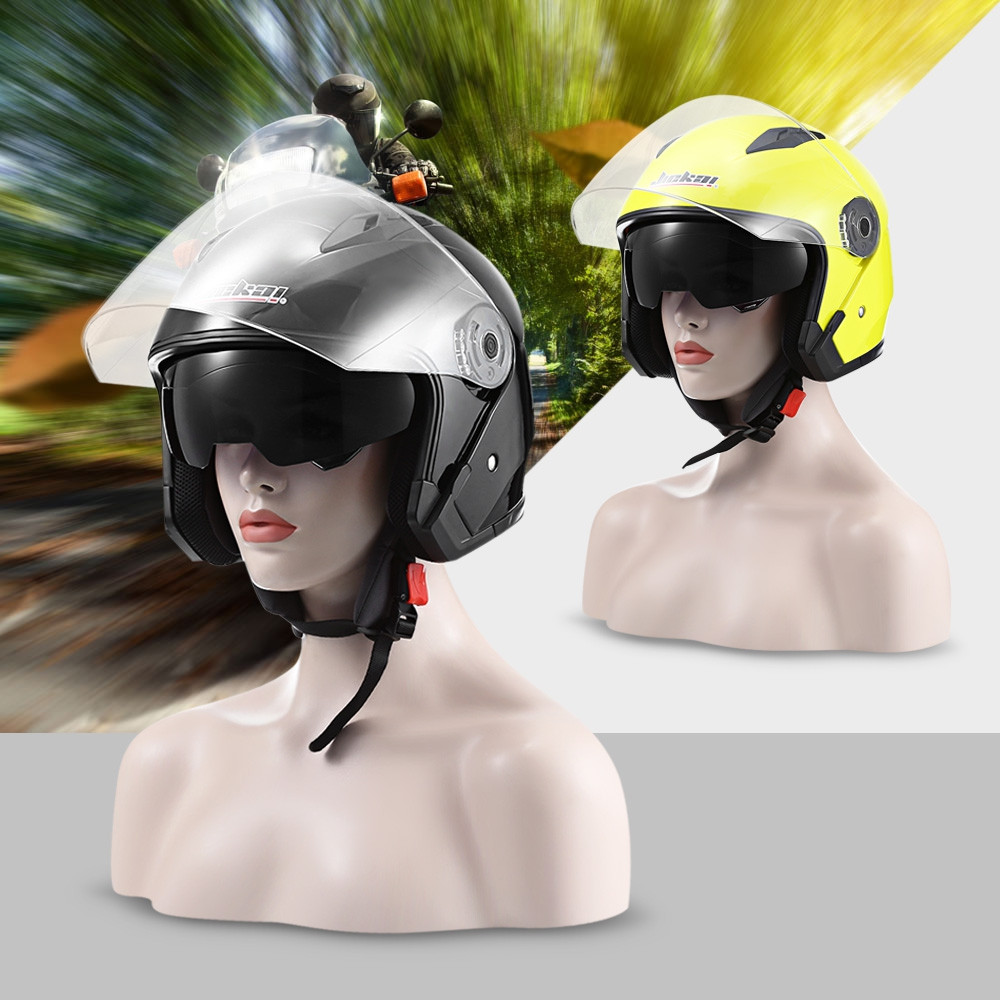 JIEKAI JK - 512 Motorcycle Open Face Helmet with Dual Lens