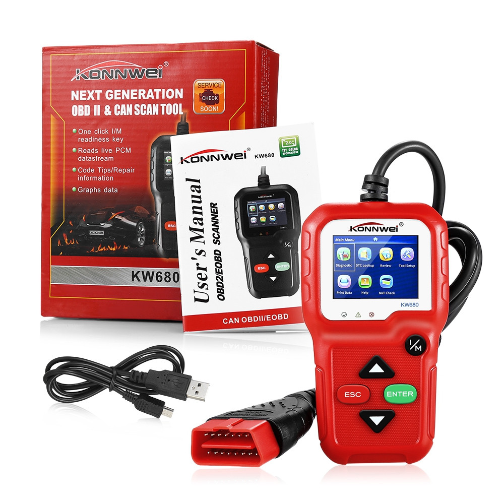 Konnwei KW680 CAN OBD2 / EOBD Scanner for Vehicles