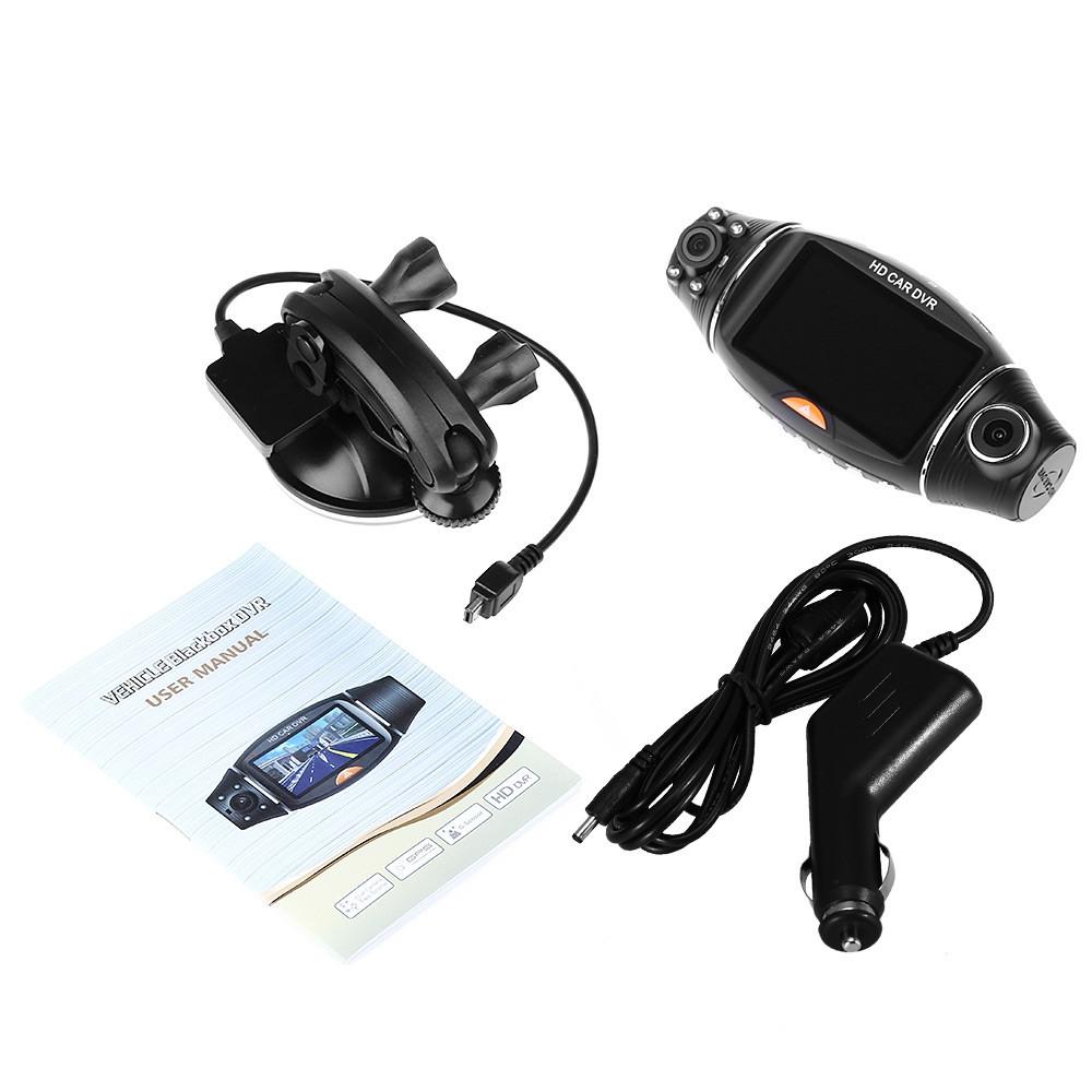 2.7 inch R310 270 Degree TFT LCD Dual 2 Lens Dash HD DVR Car Kit Camera Video Recorder