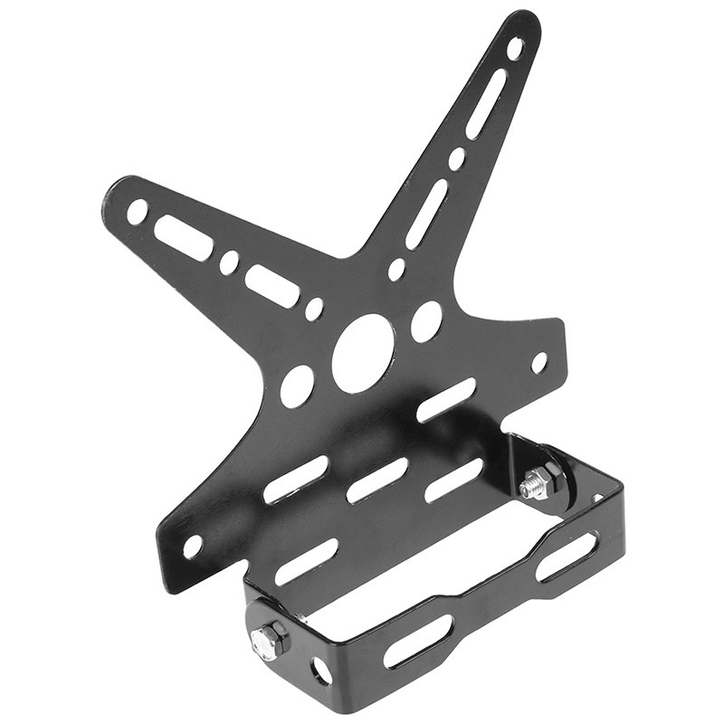 Motorcycle License Plate Aluminum Alloy Mount Bracket Adjusted Number Plate Holder