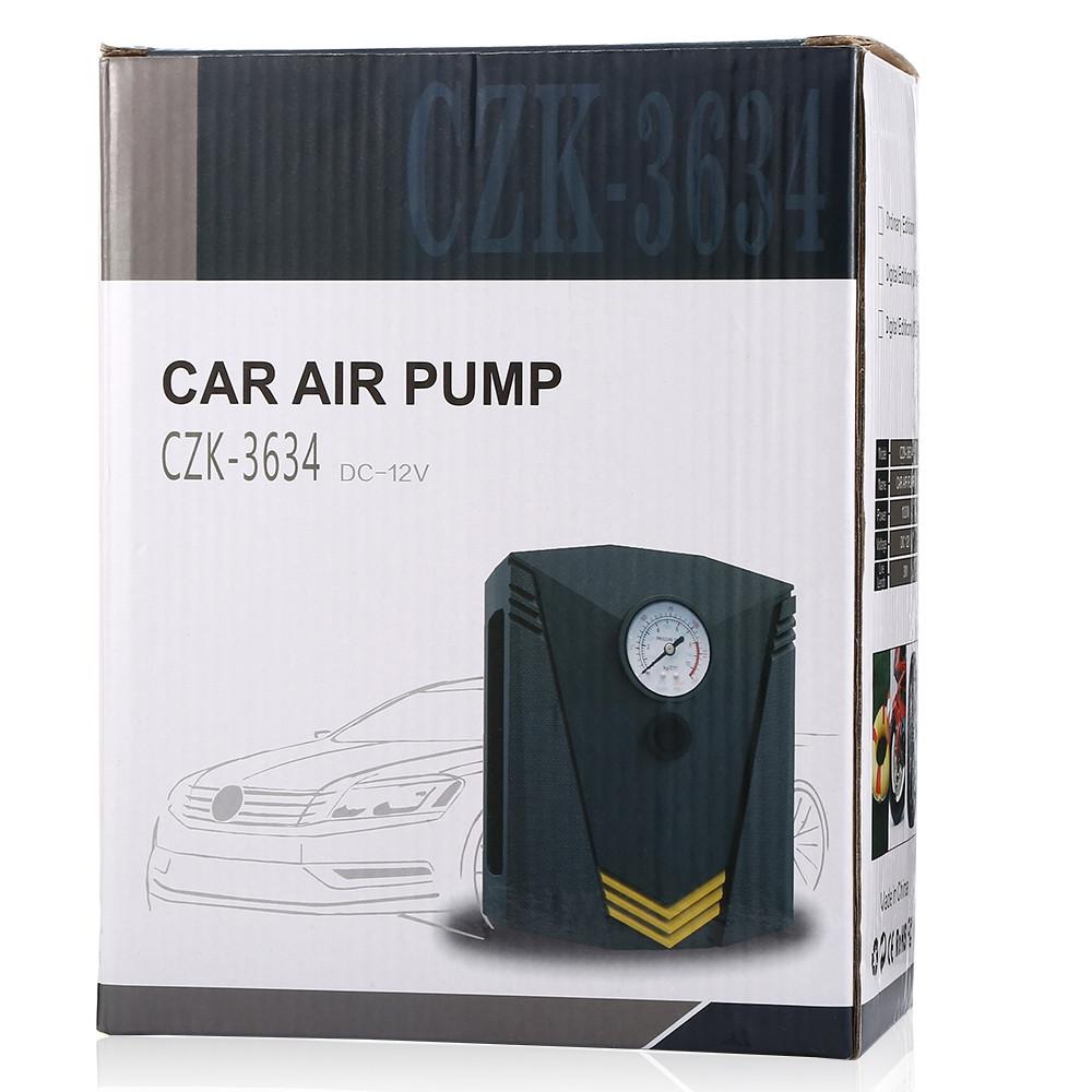 ZEEPIN CZK - 3634 12V Car Tire Inflator Air Pump Digital Display LED Light