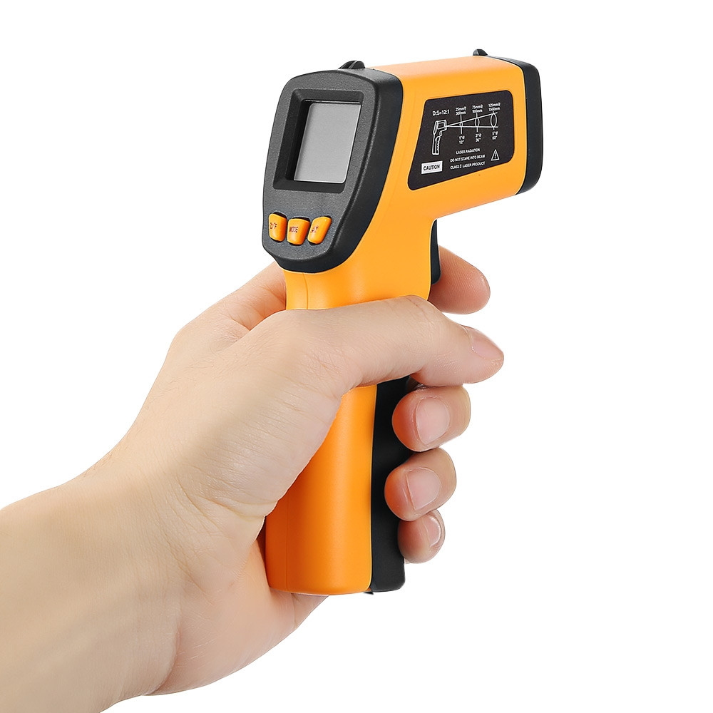 RZ520E Handheld Digital Non-contact Infrared Thermometer with LCD Display