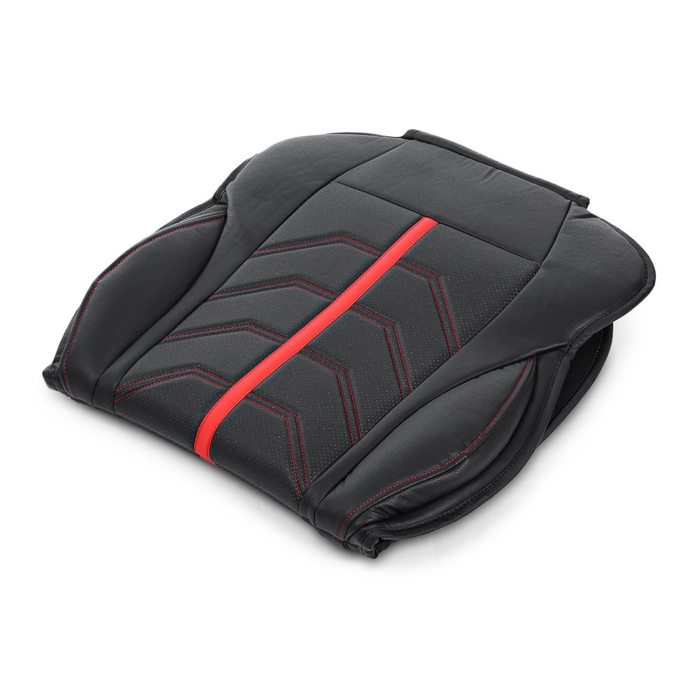TIROL Universal PU Leather Front Single Seat Cushion for Car