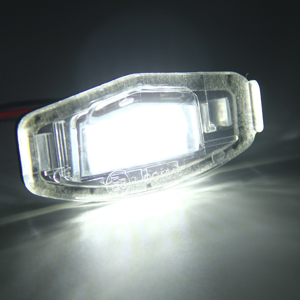 12V Number License Plate Light / Bulb with 18 LEDs White Light for Honda Accord 4D Civic Odyssey City 4D - 2pcs