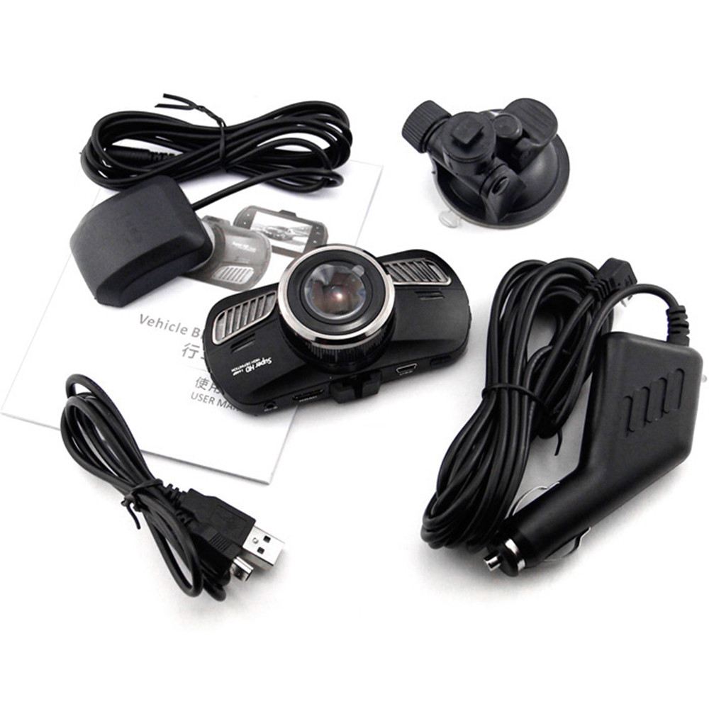 Dome D201 2.7 inches LCD Ambarella A12 Super HD 1440P H.264 170 Degree View Angle Car DVR with GPS Tracking