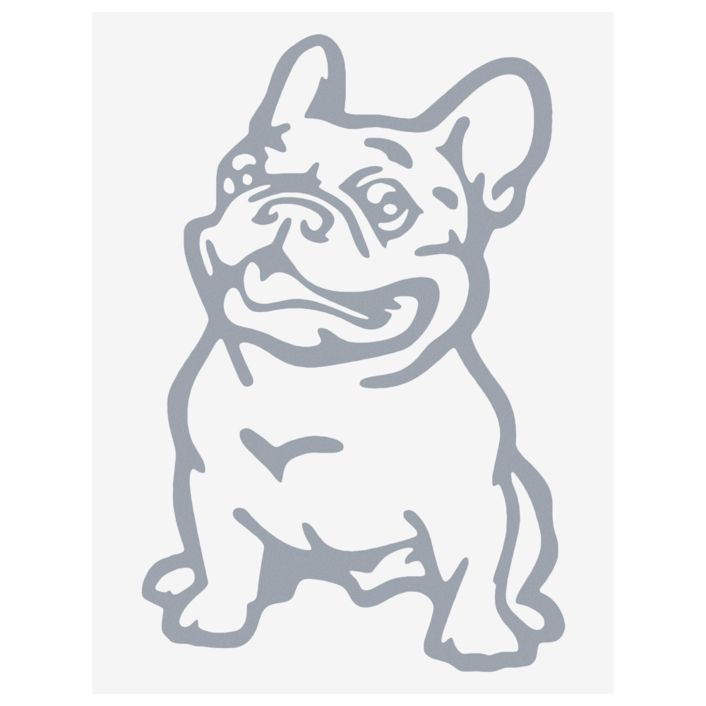 Cute Bulldog Pattern Waterproof Car Decal