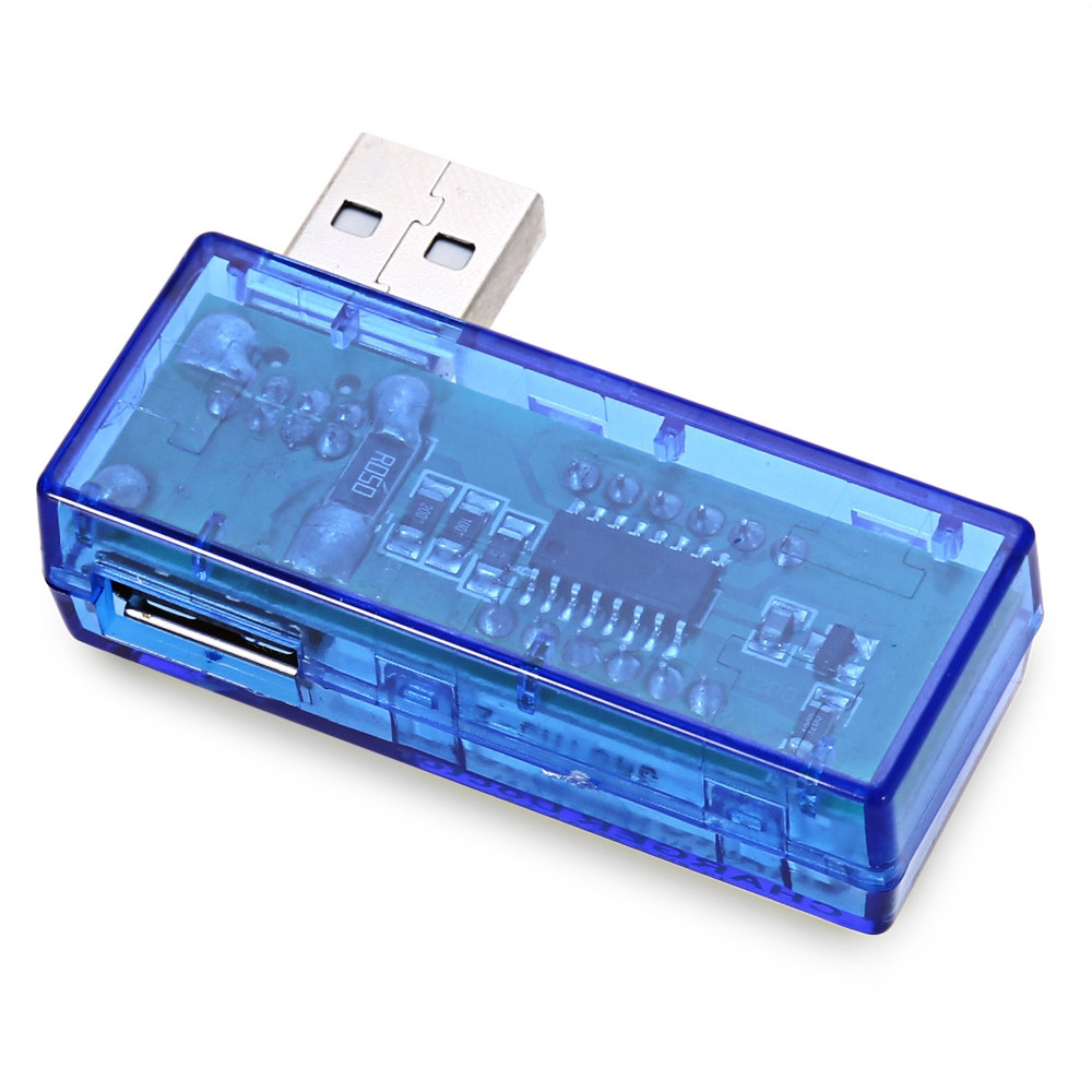 KW201 USB Power Current Voltage Detector Portable Tester Meter Digital Display Translucent Blue Charger Doctor