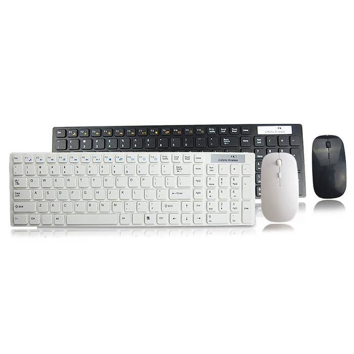 Business 2.4g Ultra-thin Optical Wireless Keyboard Mouse Set