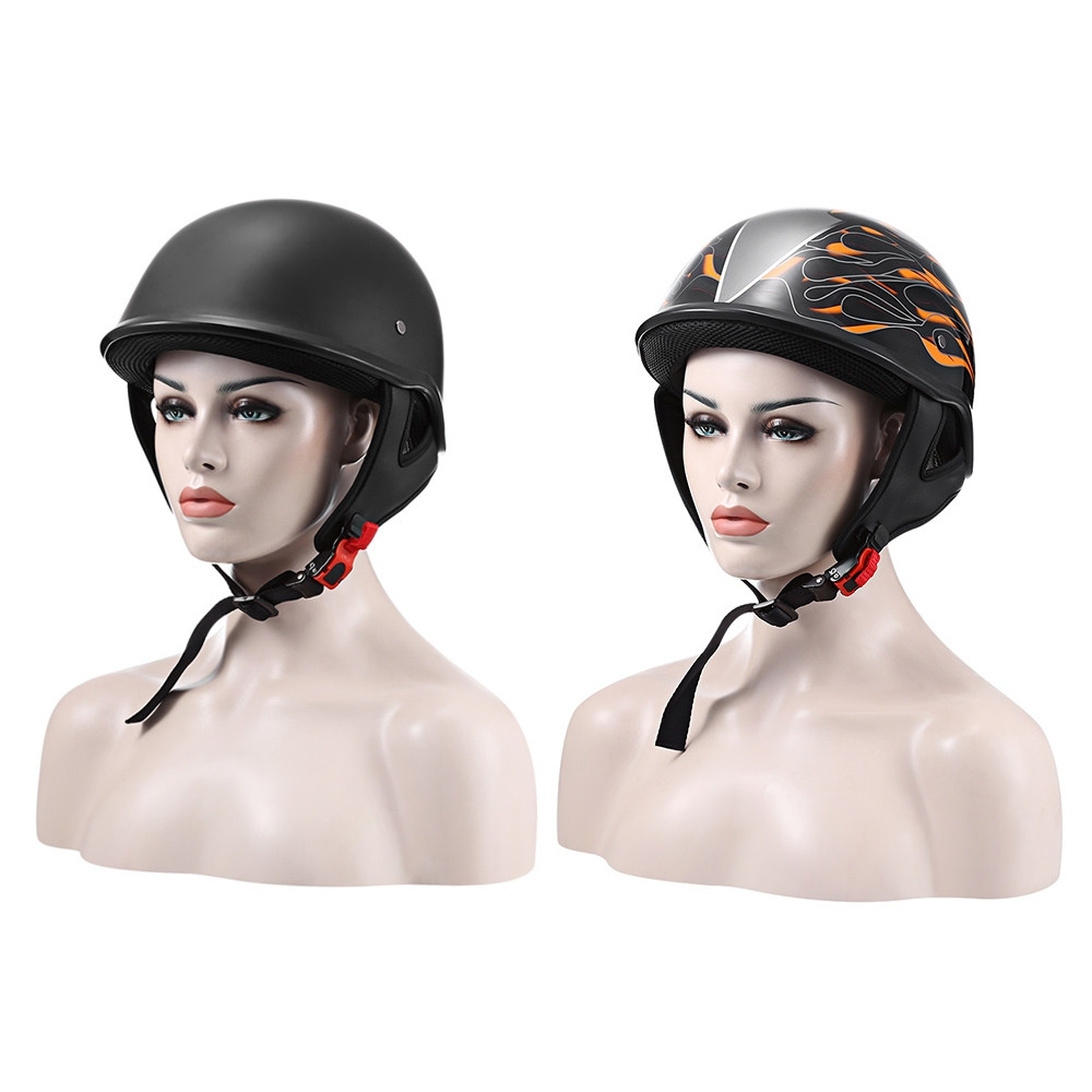 ZR - 111 Motorcycle Half Helmet with ABS Plastic / Vintage Style