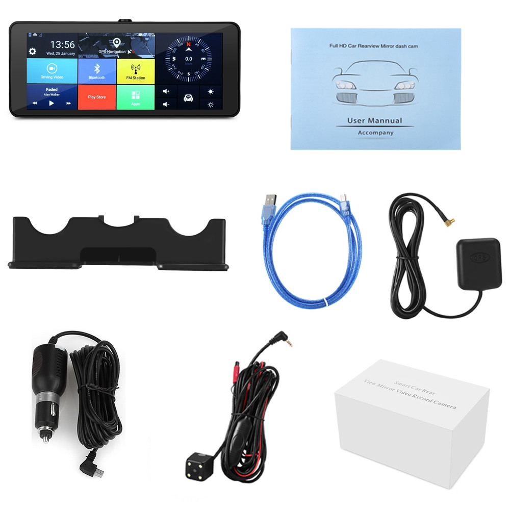ZEEPIN 682 4G Android WiFi Rearview Mirror Dash Cam