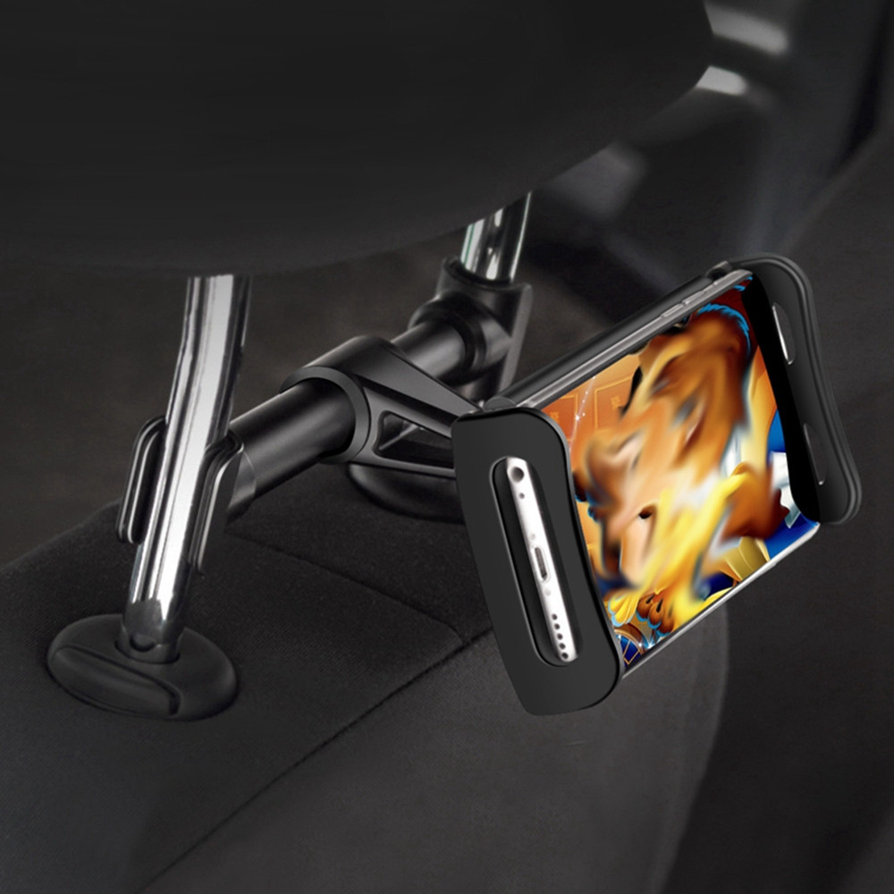 ZIQIAO CZZJ - W009 4 - 11 inch Extendable Car Headrest Back Seat Mount Rotary Tablet Stand Phone Holder