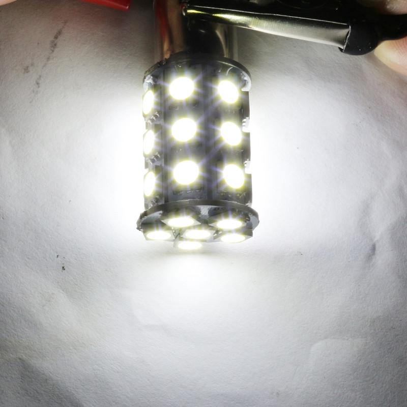 10PCS  1157 BAY15D Car 6000K 27-SMD 5050 LED Tail Turn Signal Light Lamps Bulbs Xenon White