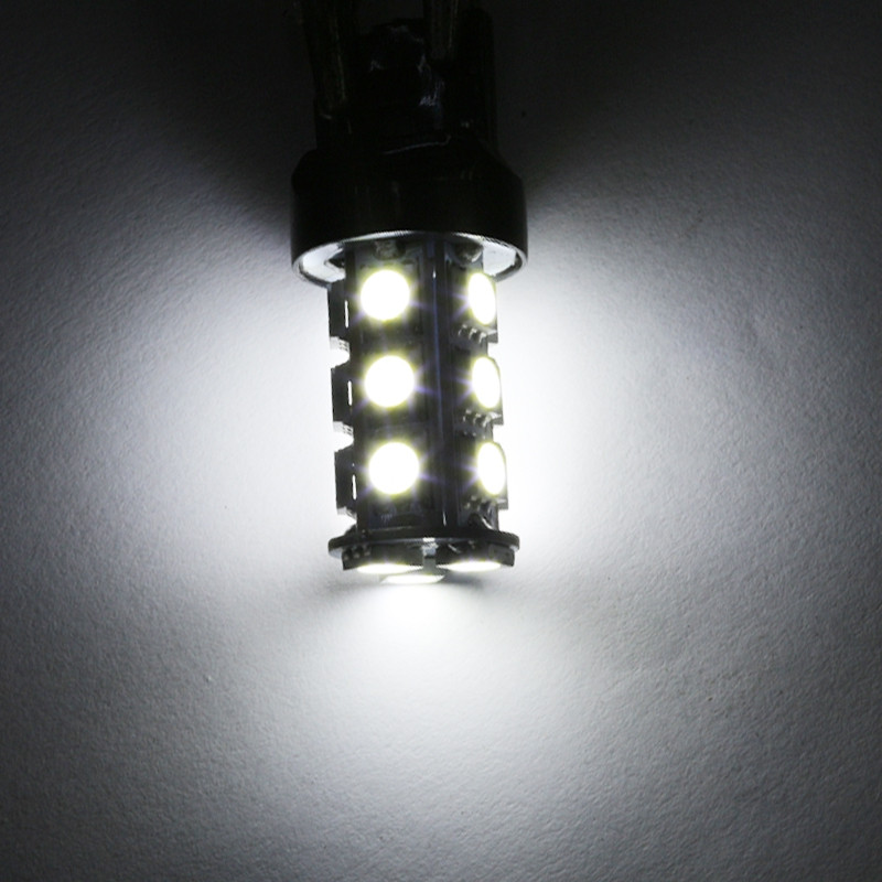 10PCS T20 7440 7443 White 18-SMD 5050 Reverse Brake/Stop/Turn Tail Back Up LED Light Bulb