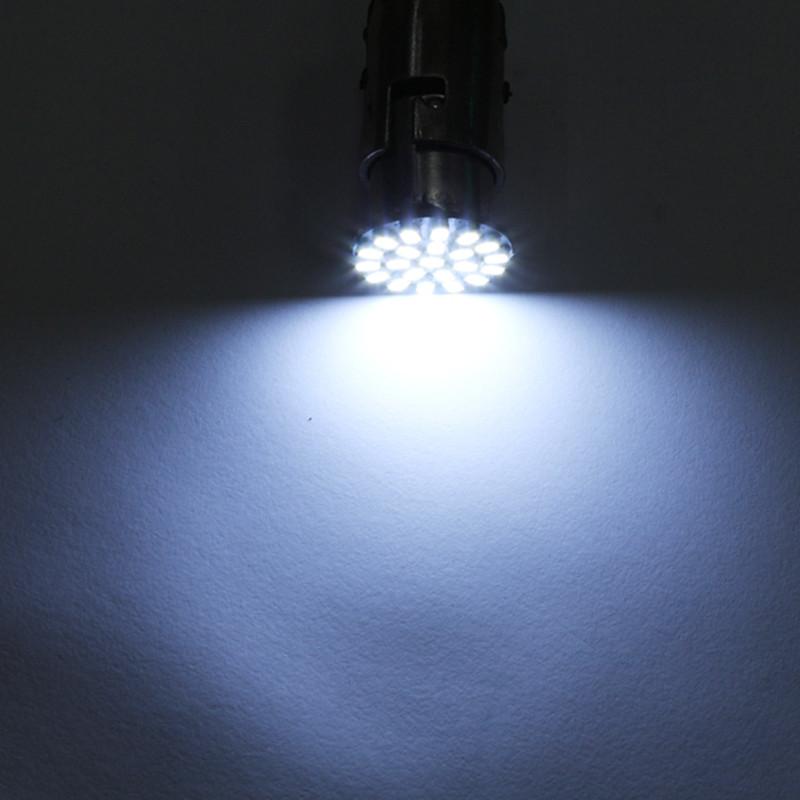 10PCS BA15S 1156 382 P21W White 22SMD LED Car Reverse Tail Brake Signal Light Bulb