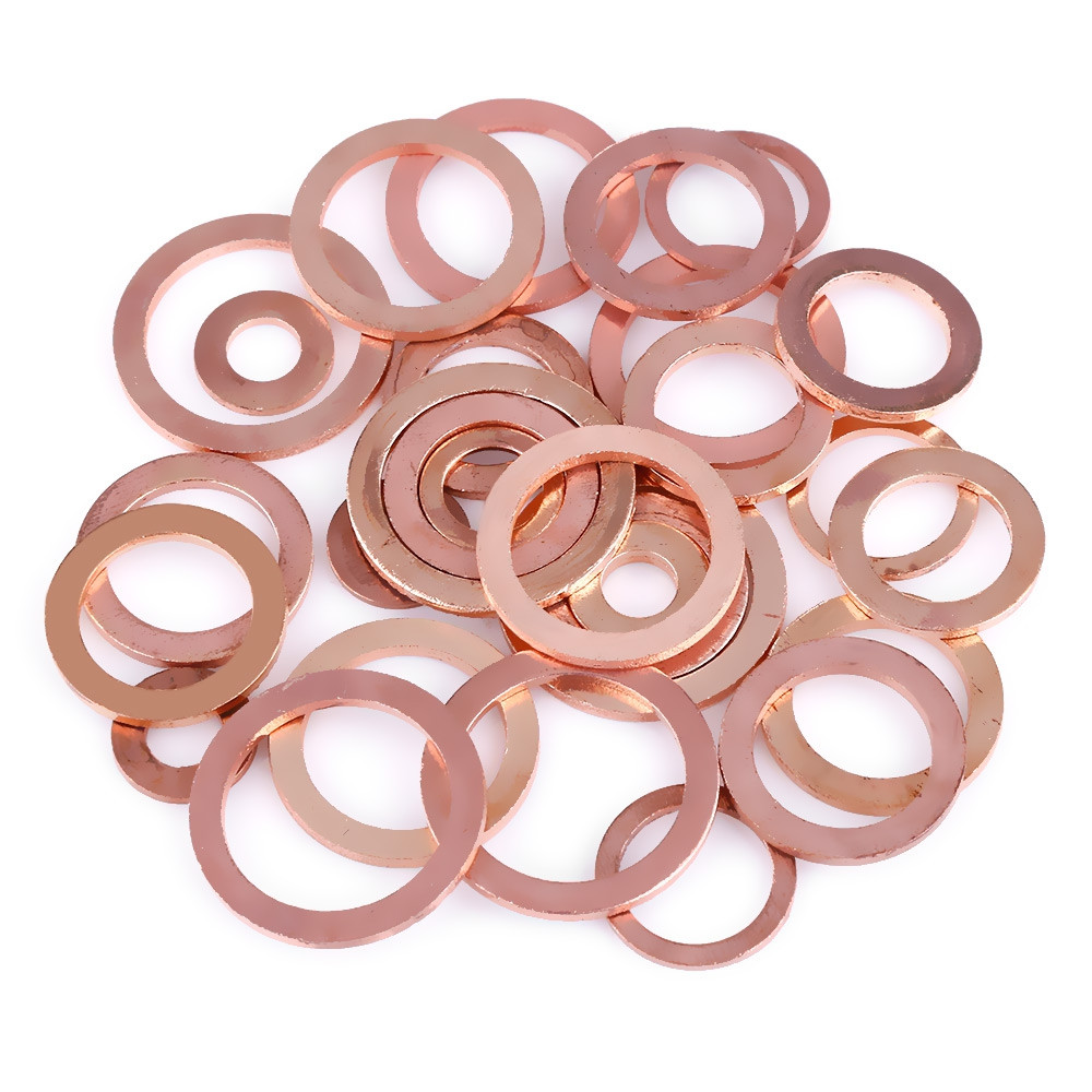 280pcs Solid Copper Washers Flat Ring Sump Plug Oil Seal