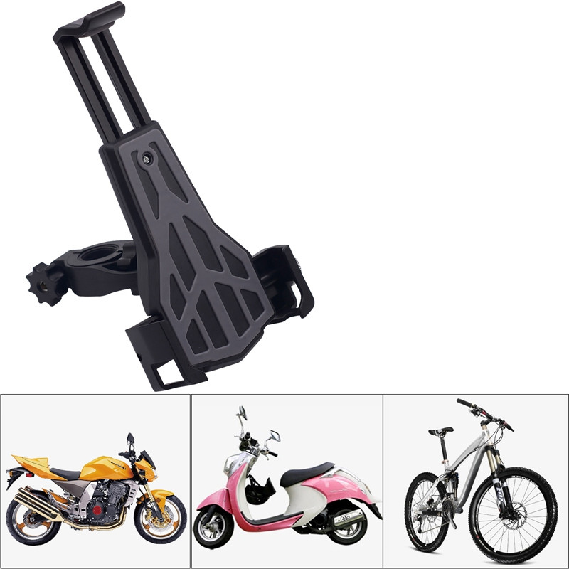 Motorcycle Handlebar Mount Phone Holder 3.5 - 6.0 Inch Adjustable Smartphone Bracket